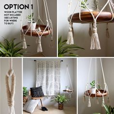 Cotton Hanging Table Holder, Boho Hanging Planter, Macrame Plant Hanger, Hanging Shelf, Boho Decor, Alternative Bar Cart, ROPE FRAME ONLY by iheartnorwegianwood
