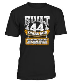 44th birthday gift idea: Built 44 years ago Shirt - Men's Organic T-Shirt Funny Organic T-shirt, Best Organic T-shirt