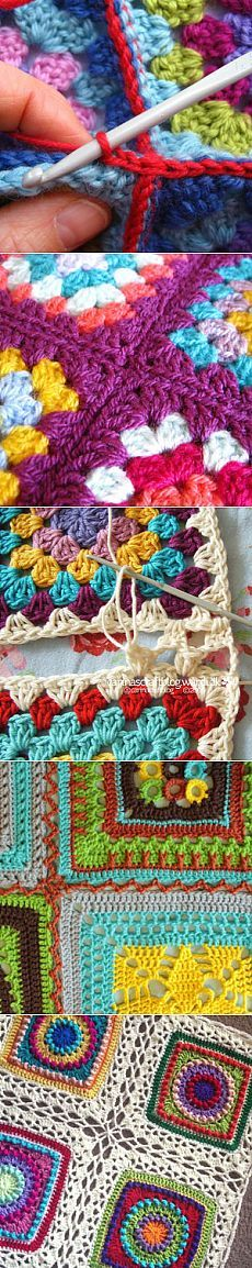 Crochet granny square easy patterns 66 Ideas for 2019 Crochet Baby Poncho, Crochet Mittens Free Pattern, Crochet Purse Patterns, Crochet Cardigan Pattern, Crochet Granny, Crochet Buttons, Crochet Doilies, Crochet Baby Mobiles, Crochet Designs