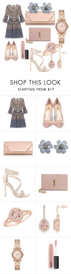 """""""#night#out#fun#chick#moda#"""" by hannazakaria ❤ liked on Polyvore featuring Needle & Thread, Semilla, Dorothy Perkins, Van Cleef & Arpels, Steve Madden, Yves Saint Laurent, Michael Kors and MAC Cosmetics"""