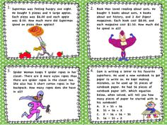 Super-heroes are coming to your students' rescue with these fun task cards that cover math standard 4.OA.A.3. Word problems cover all areas of the standard including multistep word problems, dealing with remainders, equations with a letter for an unknown quantity, rounding and estimation, and using guess and check to assess the reasonableness of answers. $