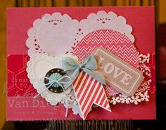 Hearts a Flutter stamp set, More Amore DSP, Kimberly Van Diepen