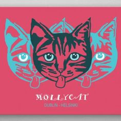 """Beautiful """"Mollycat Dublin - Helsinki"""" metal poster created by Alan Hogan. Our Displate metal prints will make your walls awesome. Artwork Prints, Cool Artwork, Poster Prints, Typography Quotes, Print Artist, Helsinki, Dublin, Finland, Cats Of Instagram"""