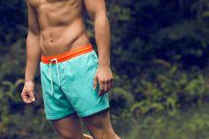 Agua Color Block Swim Shorts / Shop Online at www.ilot.co / ÎLOT Swim Shorts