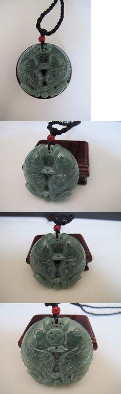 Jadeite 181088: 100% Natural Type A Jadeite Jade Double Fish Pendant C00019 -> BUY IT NOW ONLY: $399.99 on eBay!