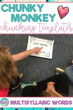 Hundreds of phonics word activities to help students with the chunking reading strategy. Teachers, parents and other paraprofessionals will be teaching children to recognize bigger chunks in words rather than reading sound by sound with the fun ideas in these templates. Great for individual or small group literacy instruction for children of any age. Click the link to help your students meet the phonics Common Core State Standards! #phonics #chunking #reading #chunkymonkey
