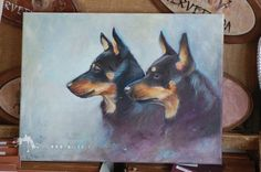 Lancashire heeler, oil on canvas