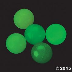 80% OFF: Glow In the Dark High Bounce Balls - 5 Pk Party Supplies Canada - Open A Party