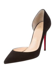 Christian Louboutin Suede d'Orsay Pumps