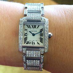 Cartier Tank Francaise Diamonds Watch