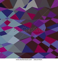 Low polygon style illustration of a deep magenta abstract geometric background.