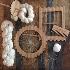 The Ultimate Crafter Kit - round loom, lap loom, weaving needle, weaving comb, drop spindle, yarn, roving