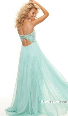rom Dresses 2015 A Line Sweetheart Chiffon Floor Length Open Back Mint Only Size 2 4 6 http://www.ikmdresses.com/Prom-Dresses-2013-A-Line-Sweetheart-Chiffon-Floor-Length-Open-Back-Mint-Only-Size-2-4-6-p85100