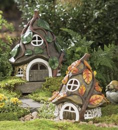 Miniature Fairy Garden Pixie House: Your garden fairy and pixie friends will love to call these whimsical fairy garden houses home. Description from pinterest.com. I searched for this on bing.com/images