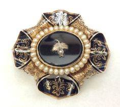 This is an EXCEPTIONAL large brooch from the Victorian or Georgian period. It is in excellent condition (truly MUSEUM quality). It has a barrel hinge and a c-clasp. It also has a hinged bale to allow it to be hung from a chain or ribbon, or to add a dangle feature (like a pearl). | eBay!