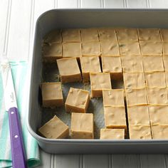 "Peanut Butter Fudge Recipe -This peanut butter fudge is a favorite ""never fail"" quickie recipe. —Eleanore Peterson, Fort Atkinson, Wisconsin"