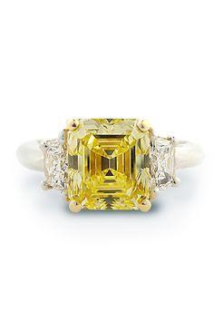 Louis Glick - Louis Glick Emerald Cut Diamond Ring from Osterjewelers.com