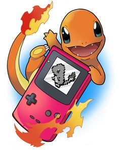 Charmander - Red Game Boy, Pokemon - Tattoos of Hannah Pokemon Eevee, Nintendo Pokemon, All Pokemon, Pokemon Fan Art, Pokemon Game Boy, Bulbasaur, Pokemon Images, Pokemon Pictures, Photo Pokémon