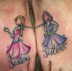 Wonderful Sister Tattoos: Honor Your Dear Sister (with Meanings) - Wild Tattoo Art Cute Sister Tattoos, Sister Tattoo Designs, Matching Sister Tattoos, Bff Tattoos, Small Tattoo Designs, Foot Tattoos, Tattoo Sister, Female Tattoos, Friend Tattoos