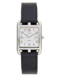 Hermes Steel/Black Cape Cod Watch