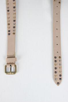 Studded Cracked Turquoise Tapered Belt