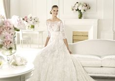 Pronovias presents the Folie bridal dress. Elie by Elie Saab Wedding Dresses 2014, Bridal Dresses, Wedding Gowns, Bridesmaid Dresses, Lace Wedding, Dresses 2013, Elie Saab Bridal, Pronovias, Aisle Style