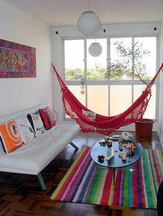 También puedes meter una hamaca en tu salón #Malibu www.facebook.com/malibuespana