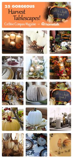25 Gorgeous Harvest Tablescapes | curated by 'Cre8tive Compass Magazine'!