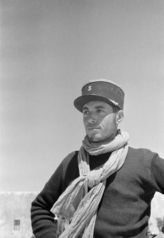 LIBYA. Kufra. Officer of the Free French forces. 1941.