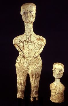 Ancient Neolithic Human figure from Ain Ghazal, Jordan. Ca. 6750-6250 BC.