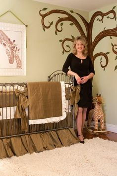 celebrity nursery designer, Sherri Blum in the Valastro home featuring her nursery for baby Carlo. The Valastro family are famous for their show, The Cake Boss on TLC.  by Jack and Jill Interiors, Celebrity Nursery Designer.