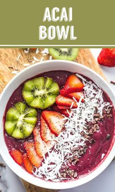 Bowl Recipe Homemade Acai Bowl Recipe- this has just a few good-for-you ingredients and makes for an easy and healthy breakfast!Homemade Acai Bowl Recipe- this has just a few good-for-you ingredients and makes for an easy and healthy breakfast! Acai Bowl Recipes Healthy, Healthy Desayunos, Healthy Breakfast Recipes, Healthy Smoothies, Healthy Meal Prep, Breakfast Smoothies, Acai Dessert Recipes, Acai Juice Recipes, Healthy Recipe Videos