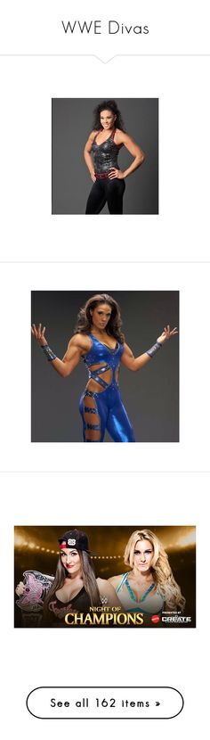 """WWE Divas"" by wrestlingloversethrollins ❤ liked on Polyvore featuring wwe, divas, people, stephanie mcmahon, wwe diva, superstars, triple h, wwe figures, nikki bella and the bella twins"