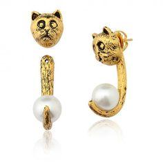 Blanc Cat Earring – LuxeyLife