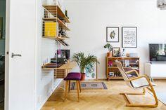 Dit appartement laat zien hoe je verschillende houtsoorten kunt combineren - Roomed