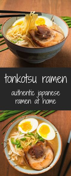 You can make ramen as good as your local ramen joint. Making tonkotsu ramen at home is truly a labour of love. This isn't some 15 minute miracle insta-ramen recipe. This isn't even some one day recipe Asian Recipes, New Recipes, Soup Recipes, Cooking Recipes, Healthy Recipes, Japanese Food Recipes, Japanese Dishes, Healthy Ramen, Healthy Food