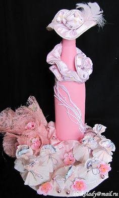 .That's a unique way of decorating a bottle.
