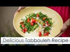 Delicious Tabbouleh Recipe with Ina from RawIsMyReligion - YouTube
