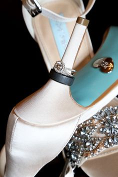 Wedding shoes ideas - elegant, satin, blush, cream, white, close toe, heels {Regina Hyman Photography  Cinema}