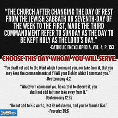 Choose this day whom you will serve.