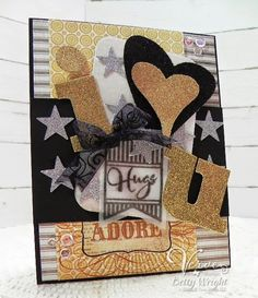 Betty Wright: Crafting with Betty: Hugs: I Love You! Viva La Verve Sketch! - 5/20/14.  (Verve products).