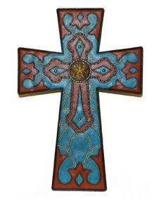 Loving this Turquoise Star Cross on #zulily! #zulilyfinds