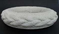 SPULNI-BLOG: Kötött koszorú - Knitted wreath