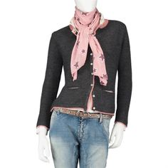 VALE Strickjacke Trachten Jacke Janker WIESN PRINZESSIN Alpaka ANTHRAZIT grau in Kleidung & Accessoires, Damenmode, Pullover & Strick | eBay