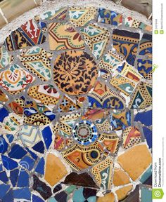 Gaudi Mosaic tiles - Barcelona.  ☮k☮ ♥ #bluedivagal, bluedivadesigns.wordpress.com