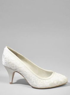 e7f4e7c00d7 Ivory Wide Fit Ochre Lace Point Bridesmaid Shoes