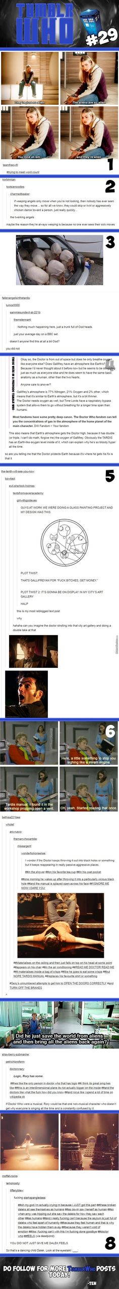 """the Doctor saves earth to get his """"fix"""""""