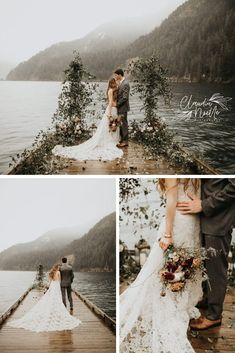 Over a year later, I finally got to connect with these two again for their vow renewal in this styled Lake Crescent elop Outdoor Wedding Photography, Bride Photography, Dusty Blue, Lake Crescent Washington, Emotional Photography, Seattle Wedding, Wedding Locations, Wedding Photos, Wedding Ideas