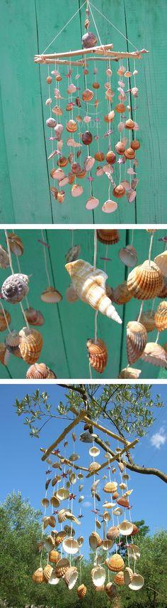 Wind chime,dream catcher,driftwood beach ocean decor,seashell,wedding beach theme, wood beach decor,door,marine,coastal,shabby chic, red star, farm house wall windchime,home decor natural ocean art. modern minimalist Acchiappasogni,scacciaspiriti,decorazione piscina finestra,interno esterno,sonagli al vento,conchiglie,stelle,stile marino,giardino,regalo.  H2Onde