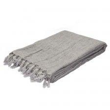 Lydka Throw Blanket, Silver